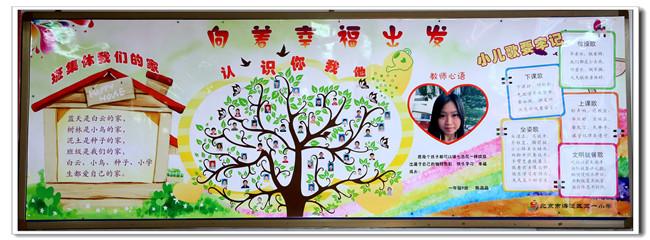 """五一小学""""幸福教室""""之班级文化墙点赞活动-- 一年级"""