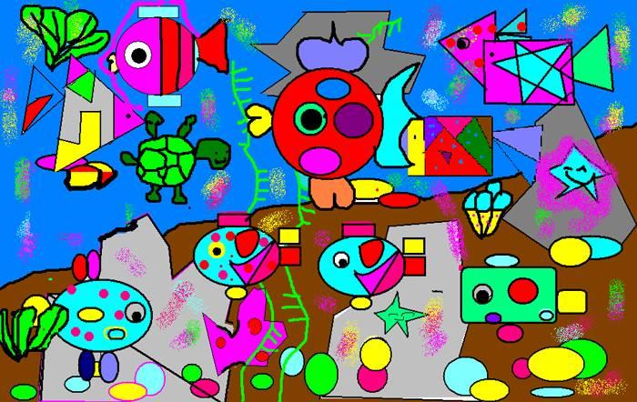 三年级小学生画画作品