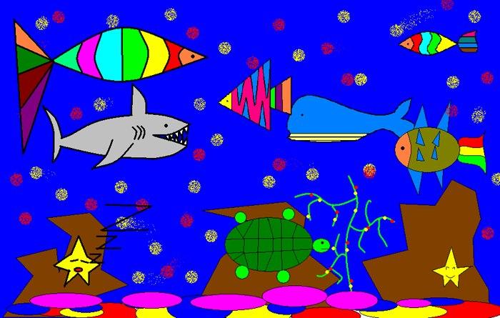 海底世界-29 三年级15班画图作品